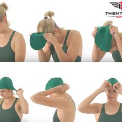 Hướng dẫn cách đội mũ bơi đúng cách