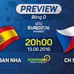 Euro 2016: Kết quả trận đấu Tây Ban Nha vs CH Czech ngày 13/06